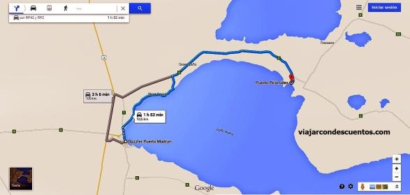 mapa dazzler puerto Pirámides