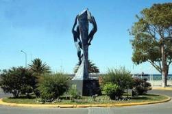 monumento al trabajador en Madryn