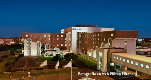 Hilton Rome vista aérea