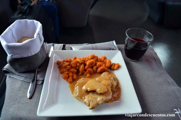 almuerzo en Frecciarossa