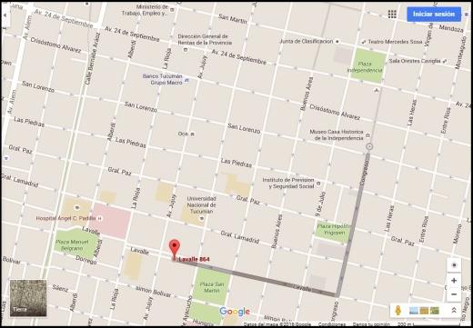 Mapa Airbnb Tucuman