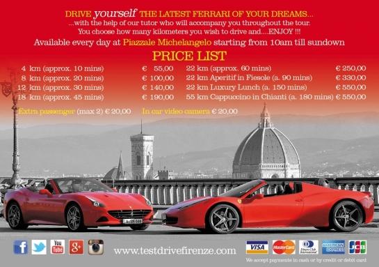 Precios de test drive F458 Italia
