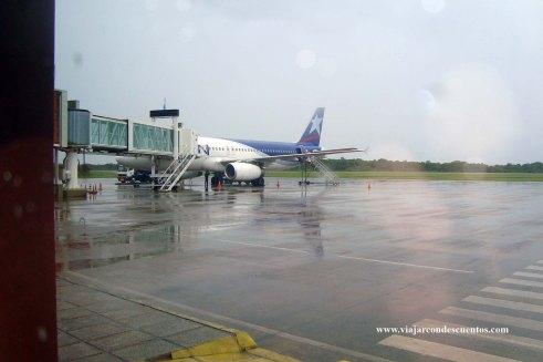 Aeropuerto de Iguazú con lluvia