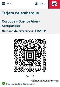 Código QR Tarjeta de embarque NORWEGIAN